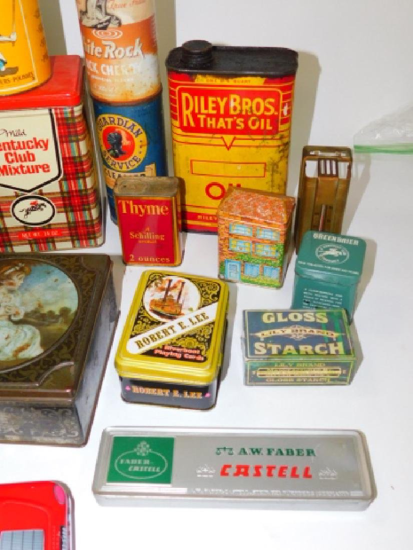 LARGE COLLECTION OF TIN CANISTERS - 5