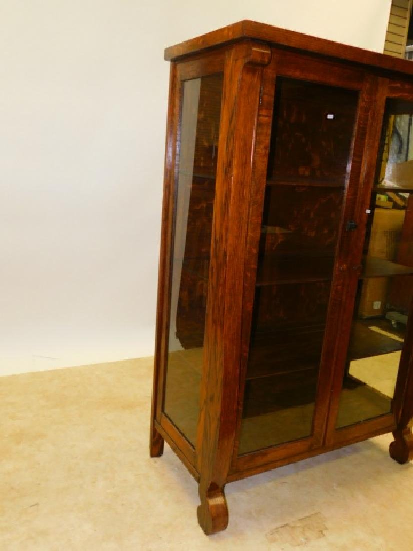 TWO DOOR OAK EMPIRE CABINET - 2