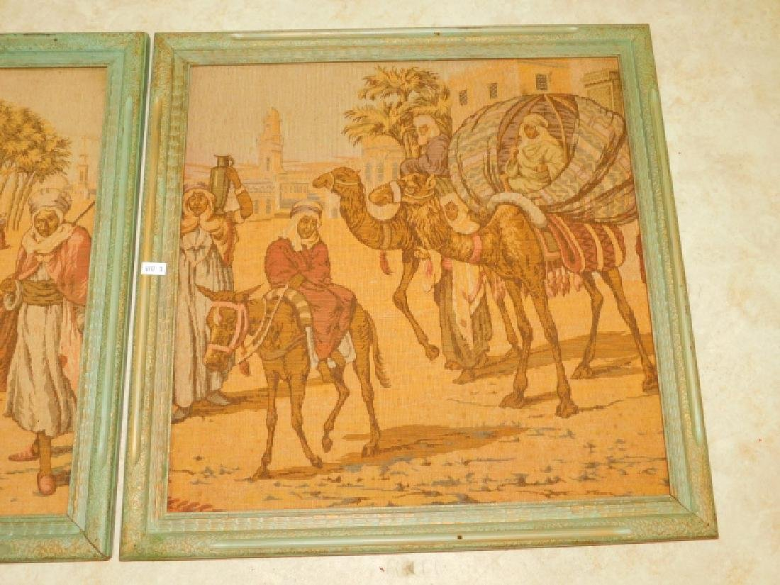 PAIR OF FRAMED EGYPTIAN TAPESTRIES - 2