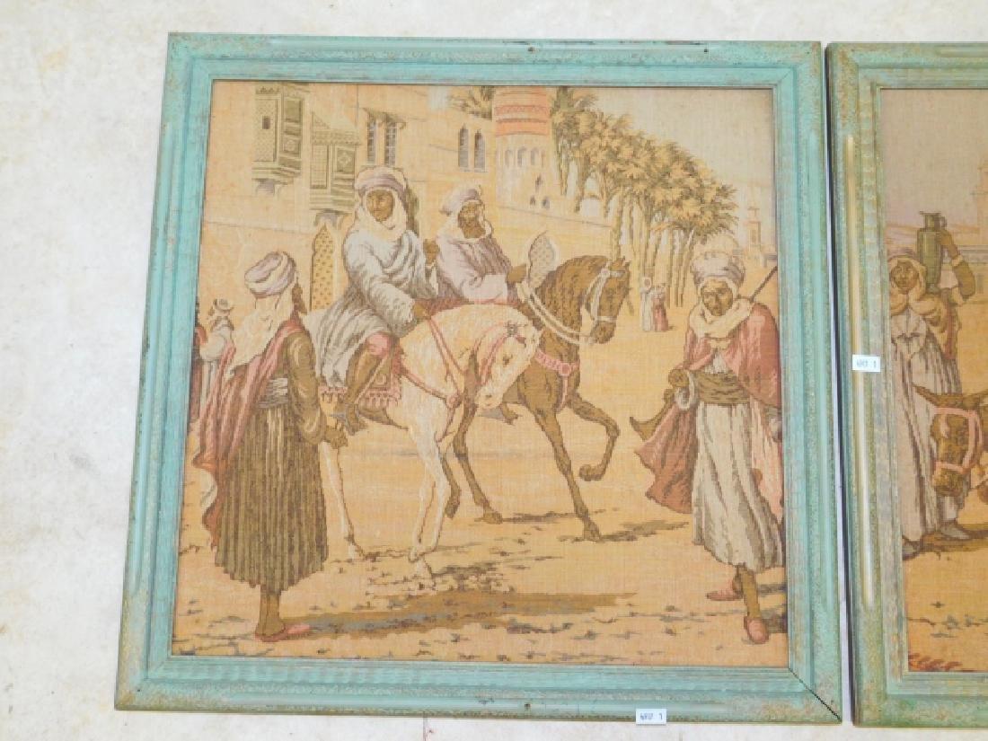 PAIR OF FRAMED EGYPTIAN TAPESTRIES - 3