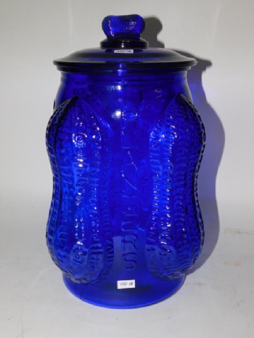COBALT BLUE PEANUT JAR - 2