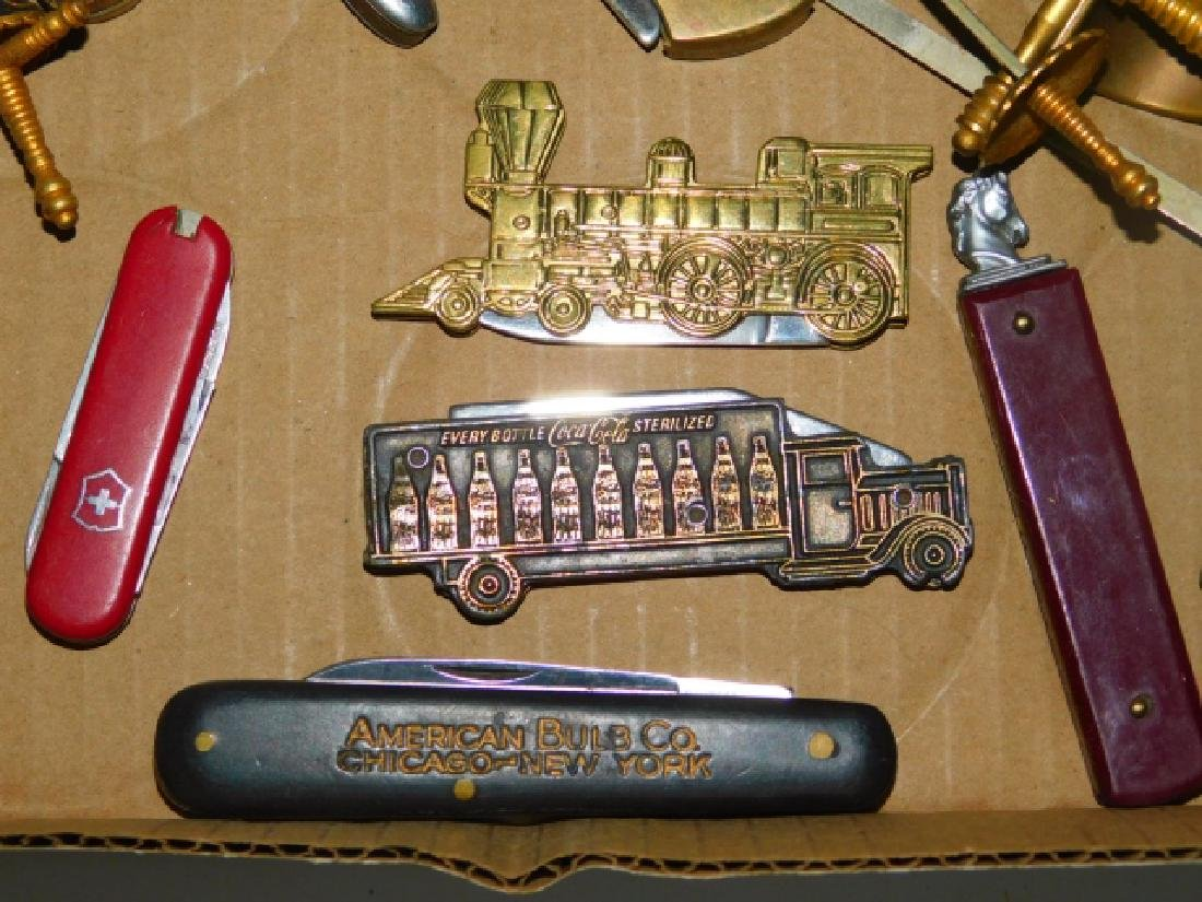 COLLECTION OF POCKET KNIVES AND LETTER OPENERS - 2