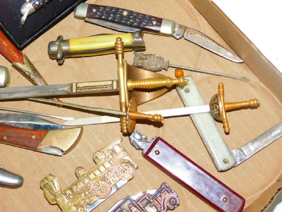 COLLECTION OF POCKET KNIVES AND LETTER OPENERS - 5