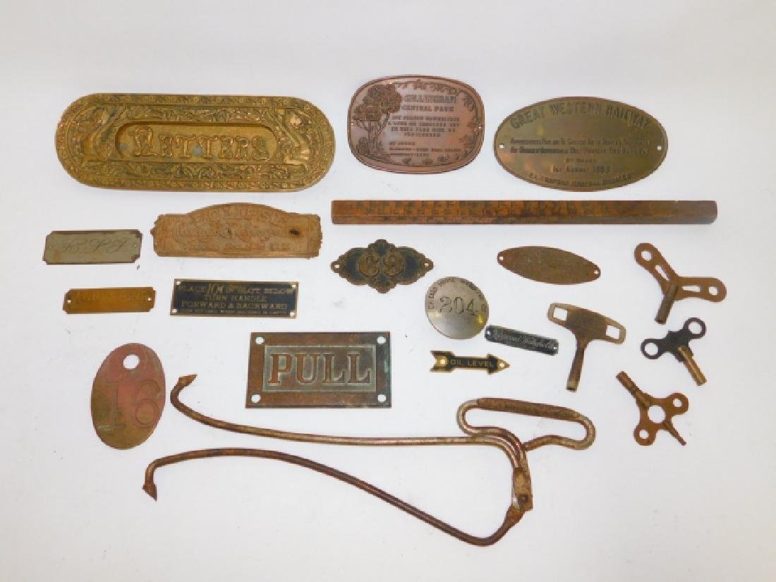COLLECTION OF PLACQUES, KEYS, AND MORE - 3