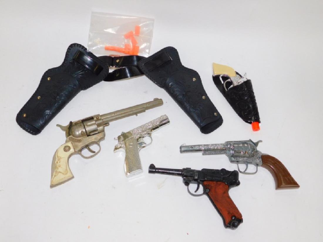 COLLECTION OF CAP ITEMS AND HOLSTERS