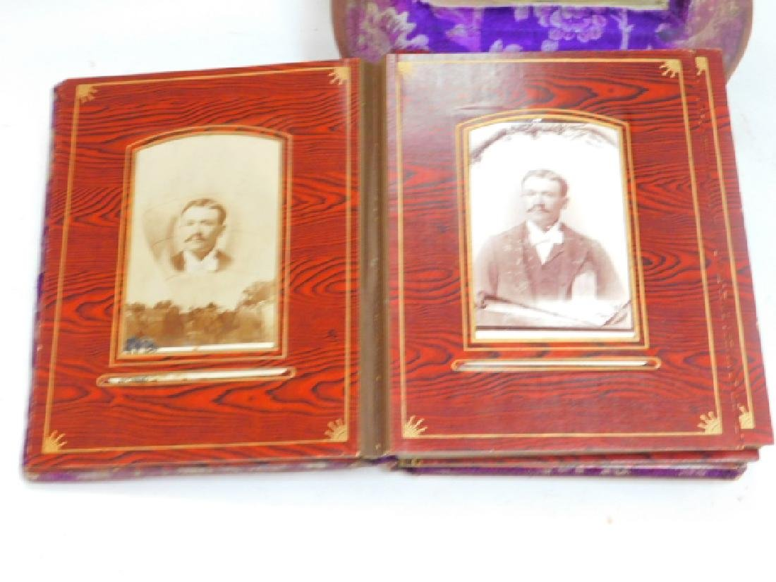 VICTORIAN PHOTO ALBUM ON STAND WITH PHOTOS - 5