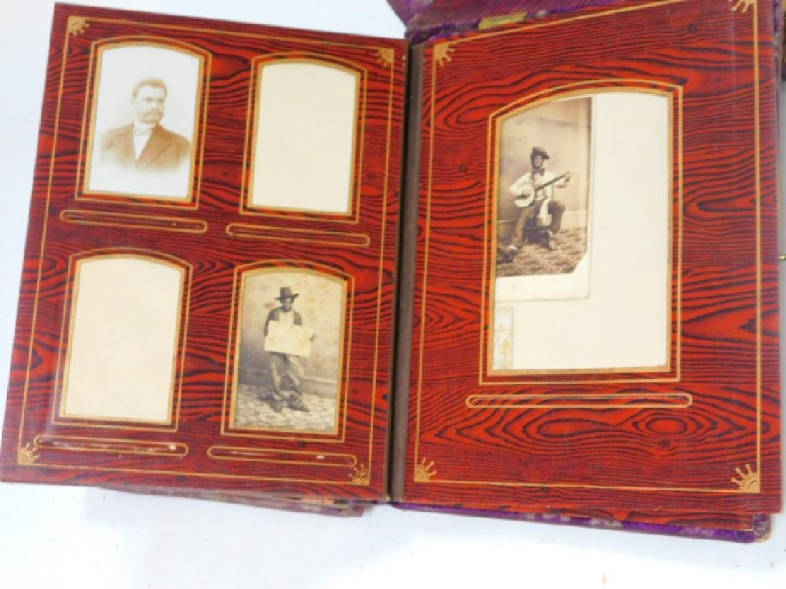 VICTORIAN PHOTO ALBUM ON STAND WITH PHOTOS - 6