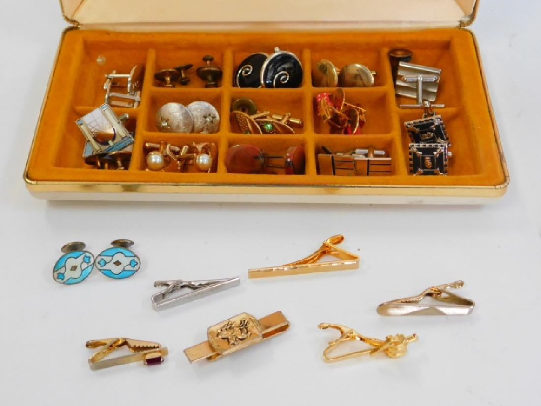 CUFFLINK & TIE CLIP COLLECTION WITH BOX