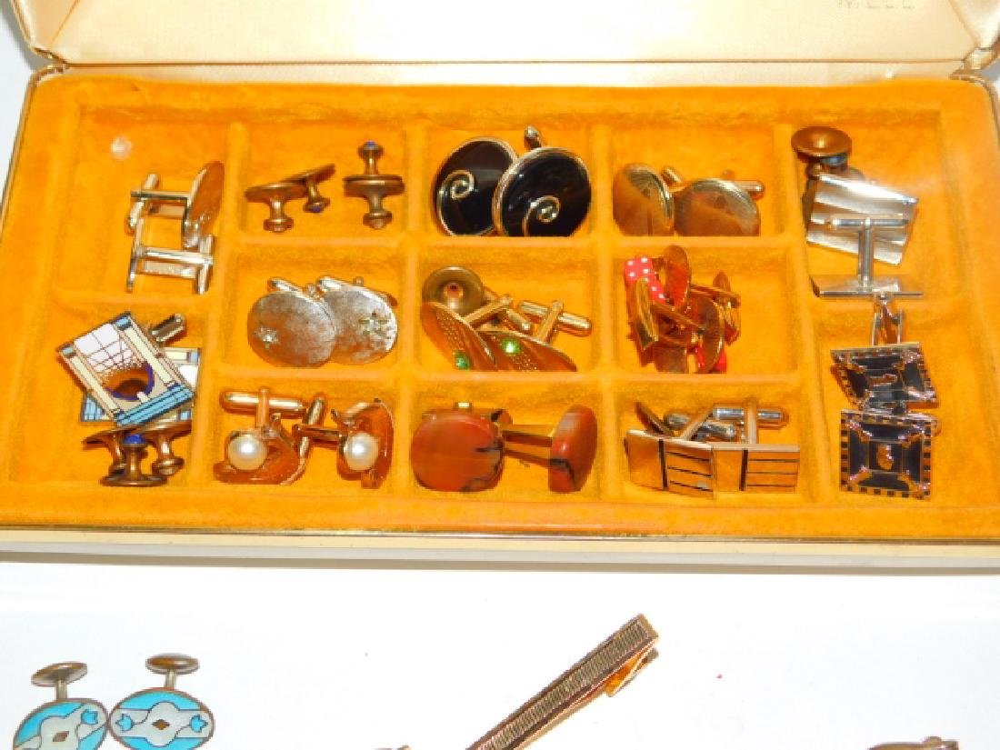 CUFFLINK & TIE CLIP COLLECTION WITH BOX - 3