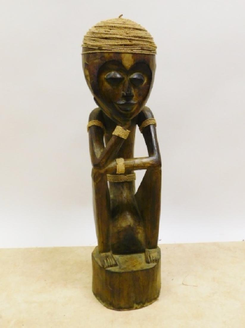 AFRICAN CARVED STATUE
