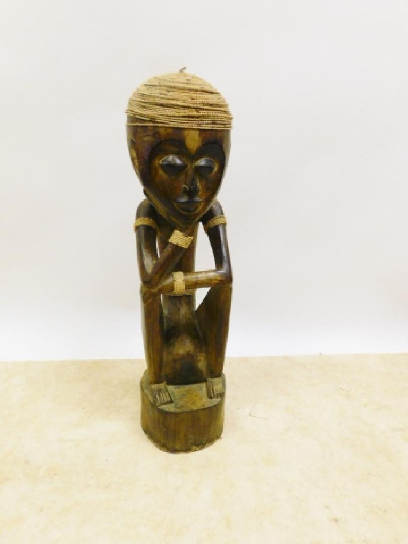 AFRICAN CARVED STATUE - 2