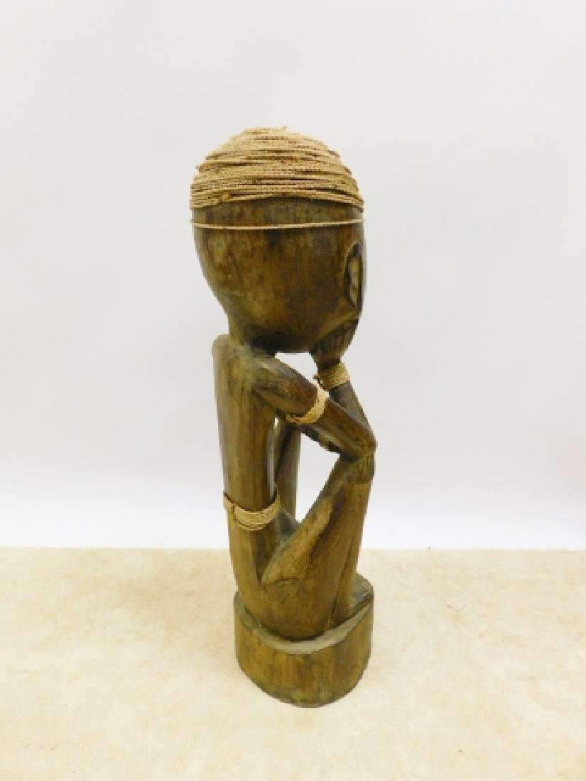 AFRICAN CARVED STATUE - 3