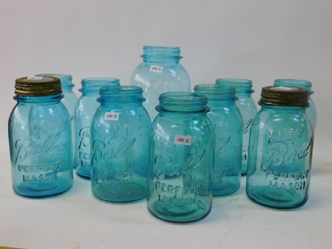 10 BLUE BALL JARS