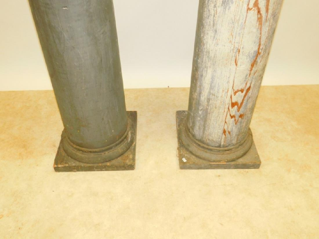 TWO WOODEN COLUMNS - 2