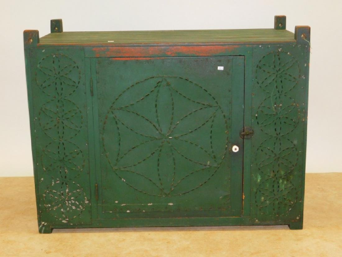 TIN PANELED HANGING PIE SAFE