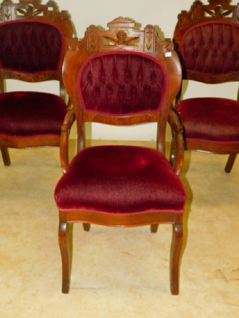 FOUR CARVED PARLOR CHAIRS - 2