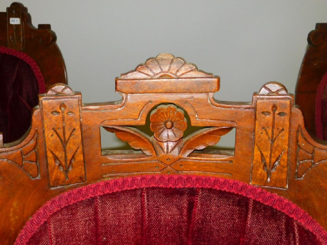 FOUR CARVED PARLOR CHAIRS - 3