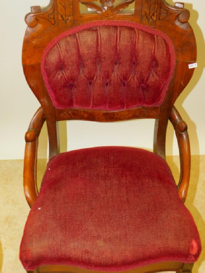 FOUR CARVED PARLOR CHAIRS - 4