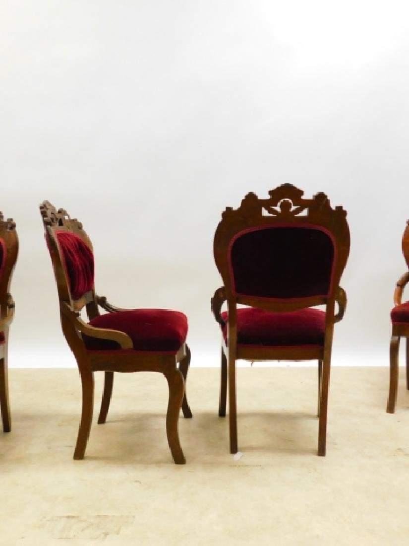 FOUR CARVED PARLOR CHAIRS - 5