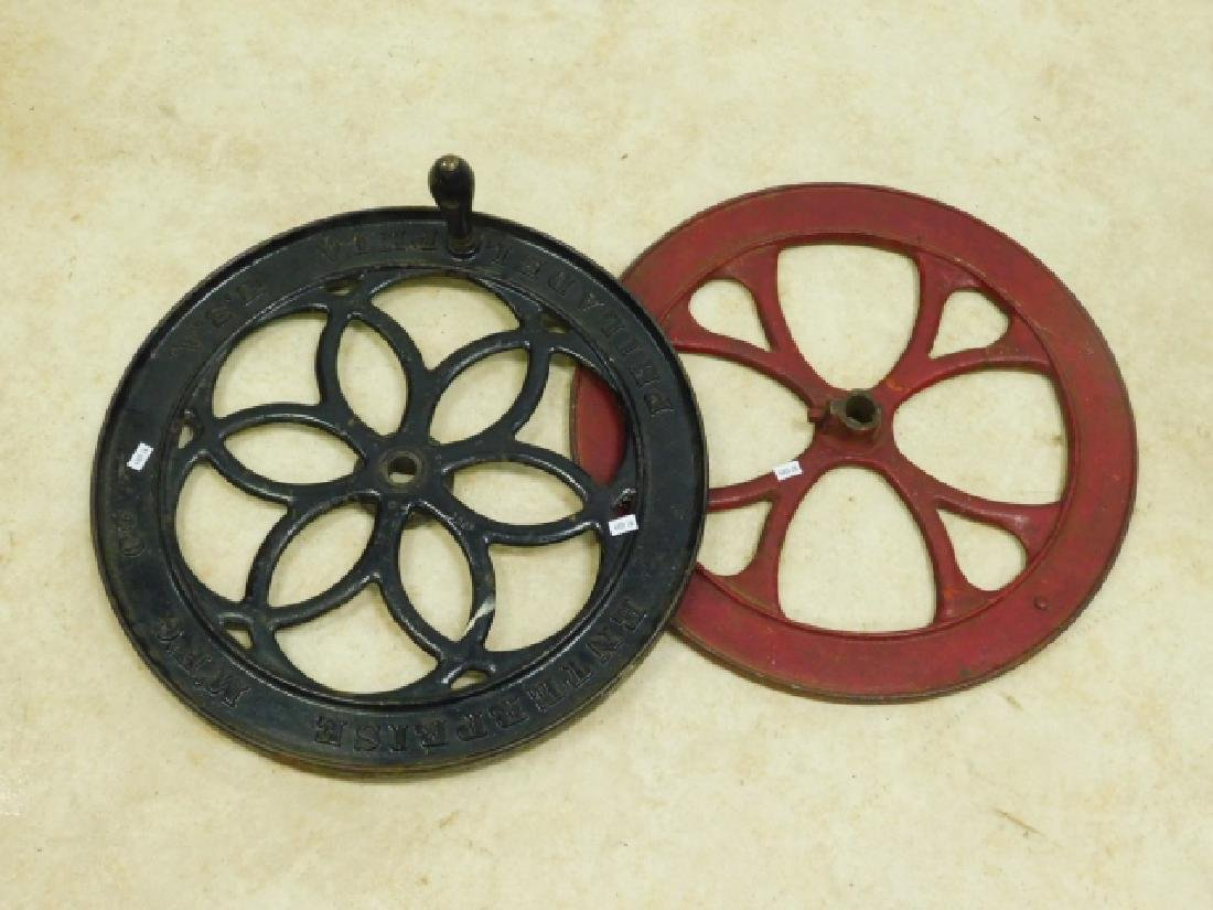 TWO COFFEE MILL GRINDER WHEELS