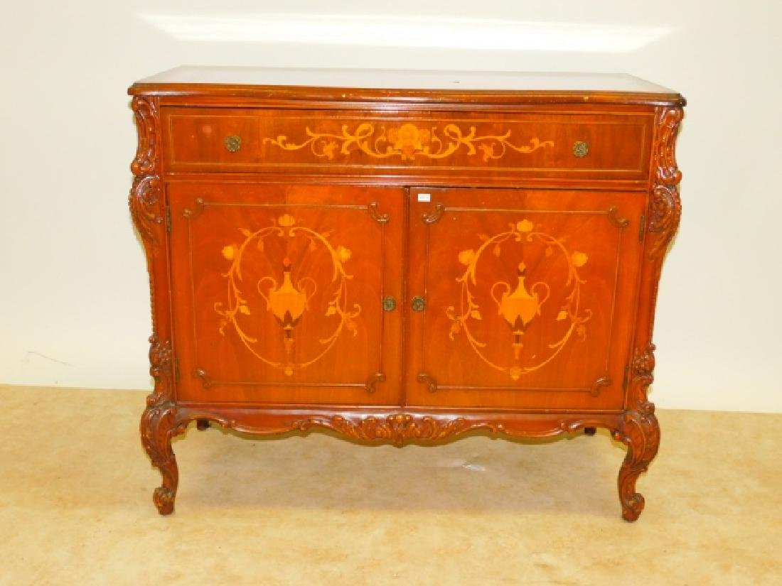FRENCH CARVED INLAID SERVER