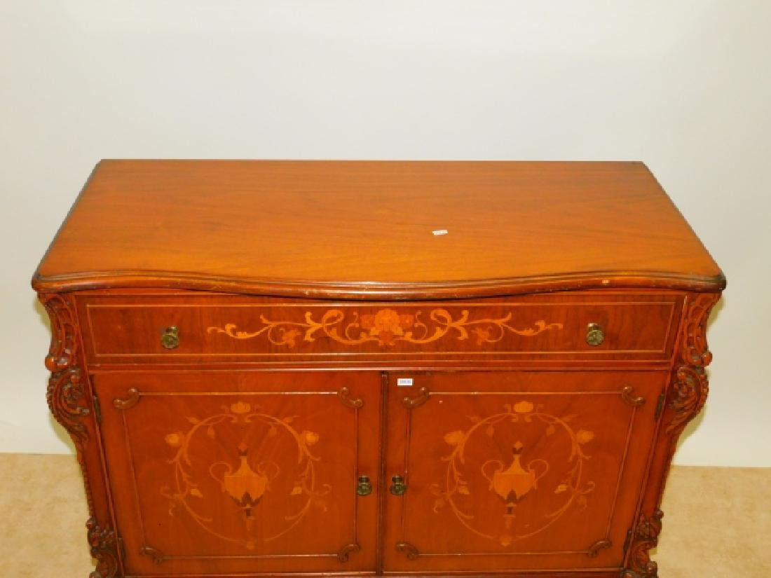 FRENCH CARVED INLAID SERVER - 2