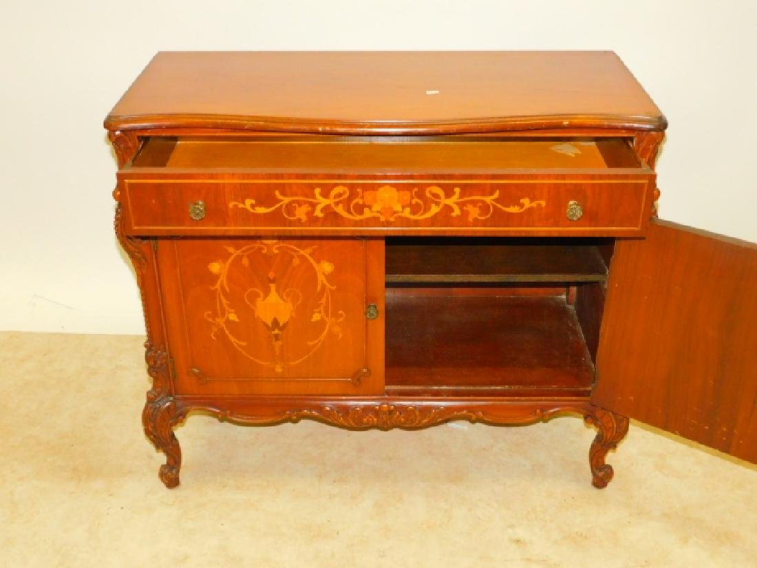 FRENCH CARVED INLAID SERVER - 3