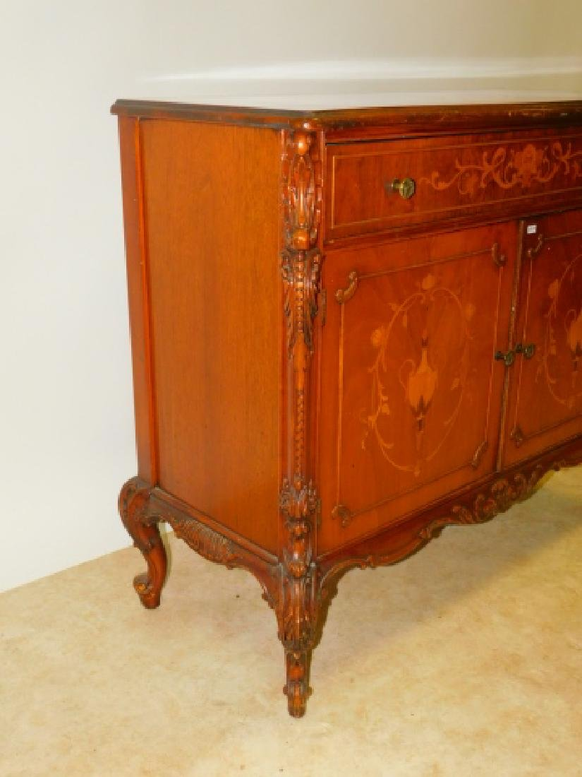 FRENCH CARVED INLAID SERVER - 4