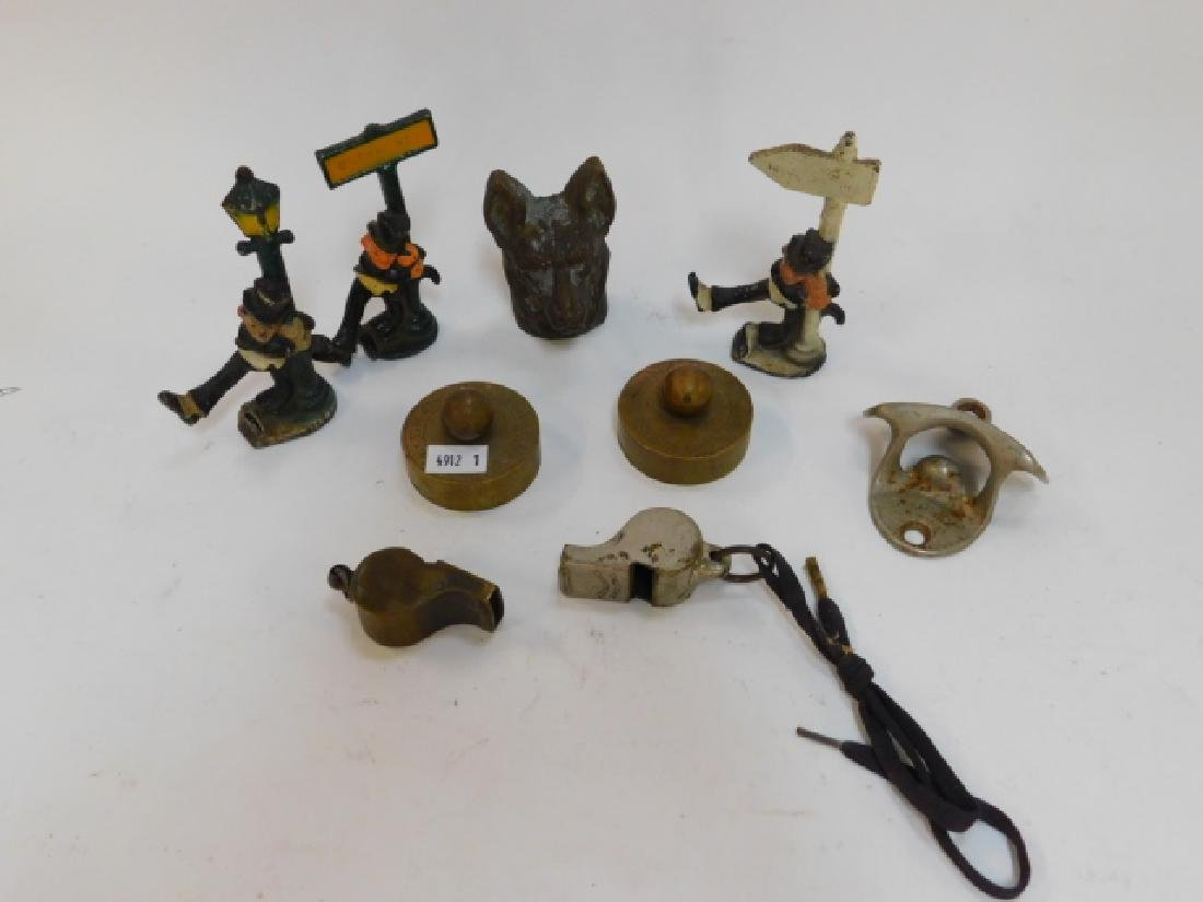COLLLECTION IRON FIGURES AND COKE ITEM