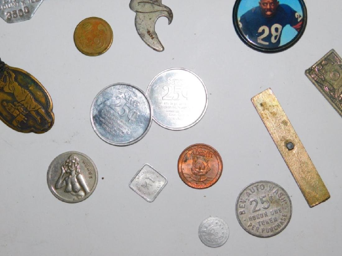 COLLECTION OF COINS, BUTTONS, BOTTLE CAPS - 5