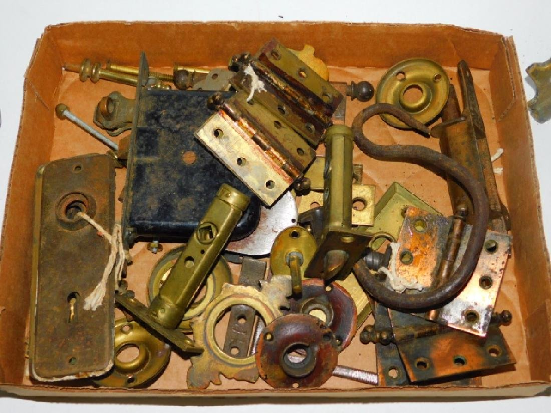COLLECTION OF DOOR KNOBS, PULLS, HINGES, AND MORE - 4