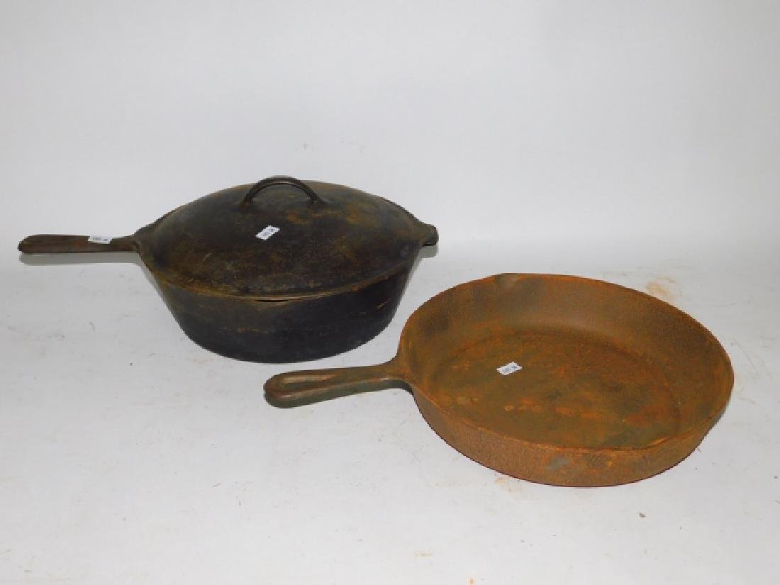 CAST IRON POT AND SKILLET