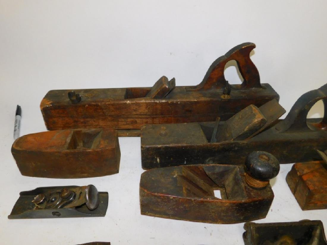 LOT OF WOOD PLANES AND HAND TOOLS - 2