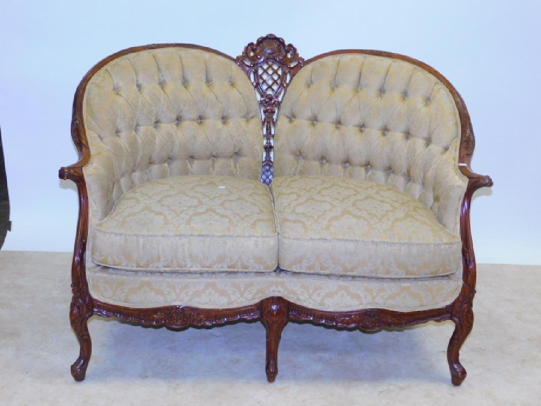 FRENCH CARVED LOVE SEAT