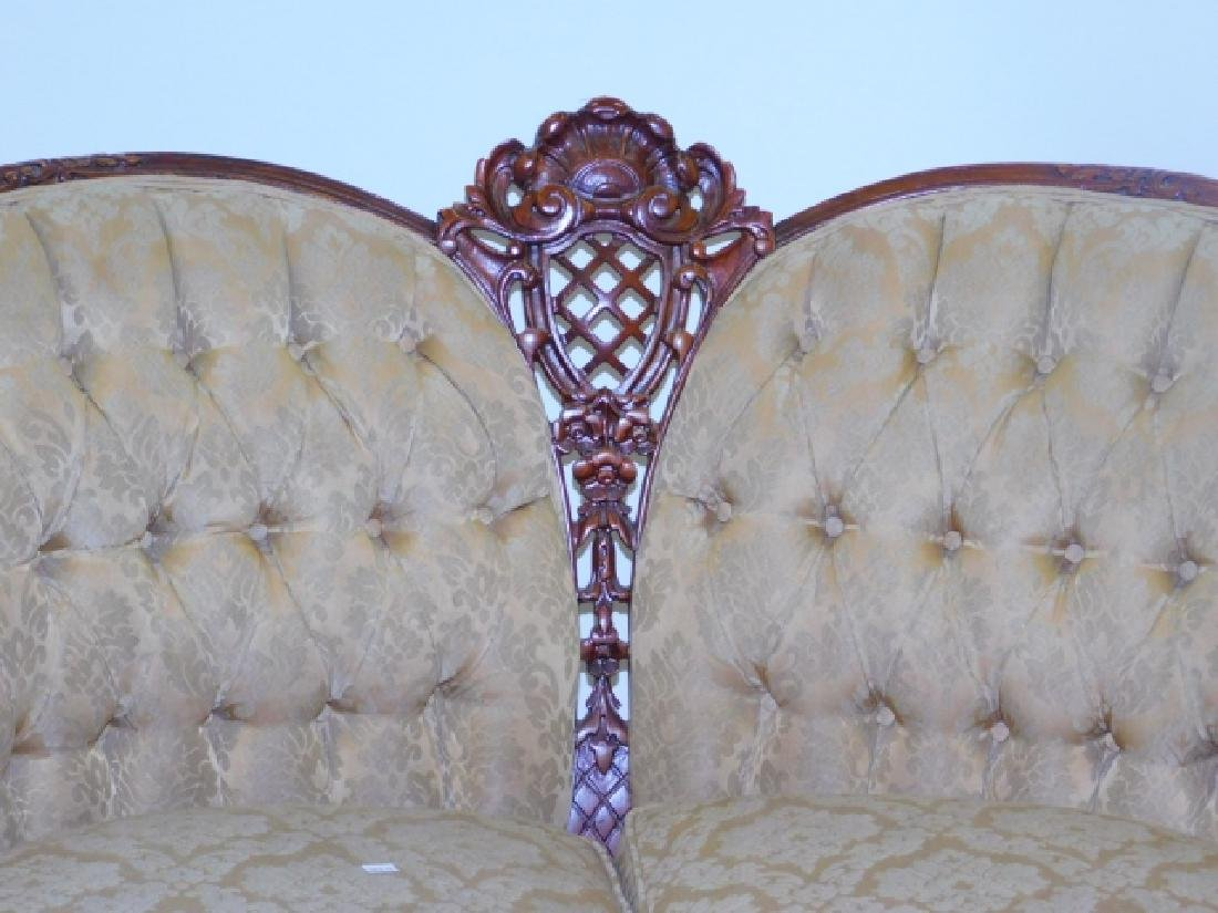 FRENCH CARVED LOVE SEAT - 2