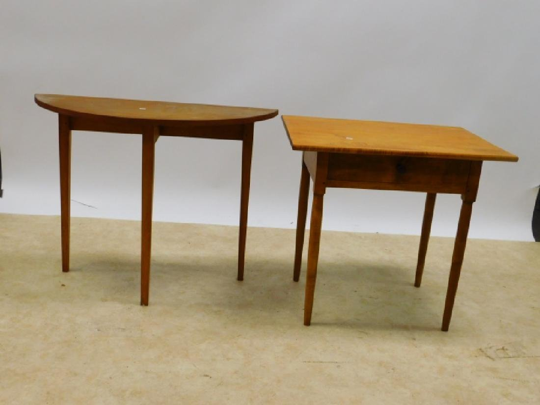 TWO PINE OCCASSIONAL TABLES