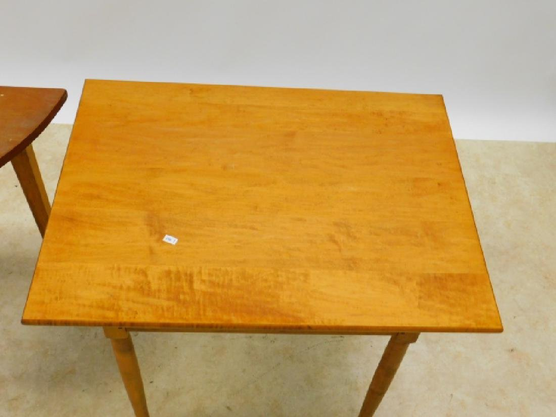 TWO PINE OCCASSIONAL TABLES - 3