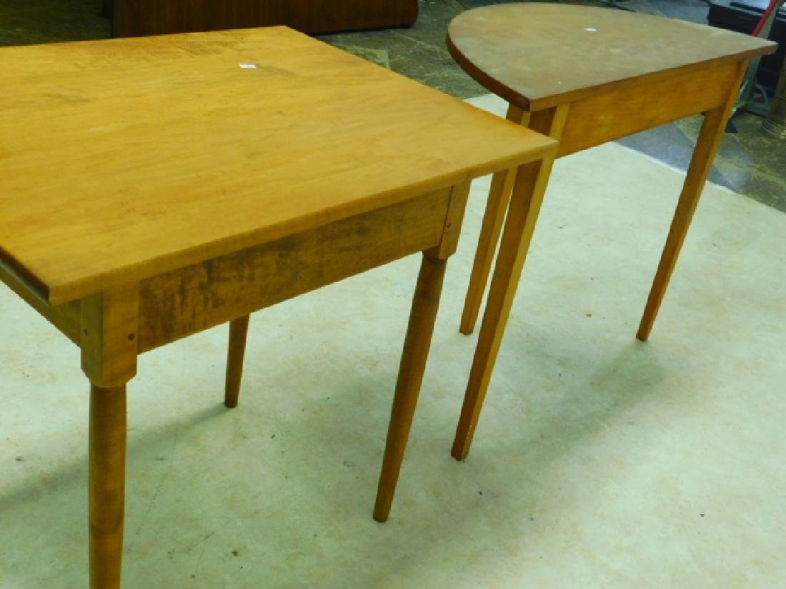 TWO PINE OCCASSIONAL TABLES - 5