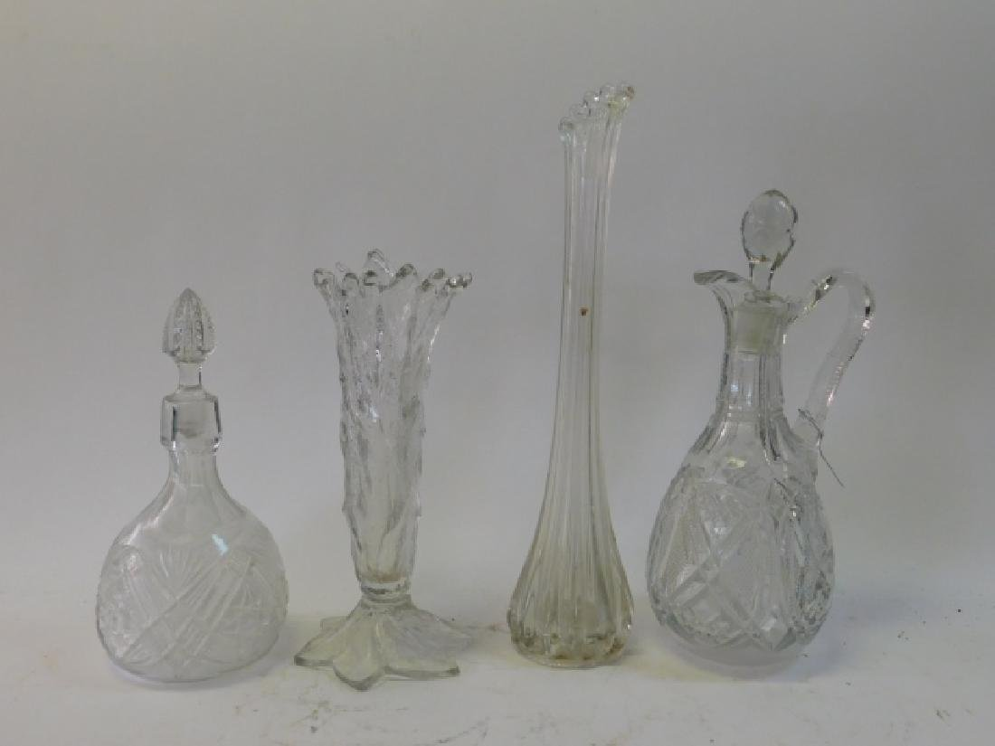 CUT GLASS DECANTERS WITH VASES