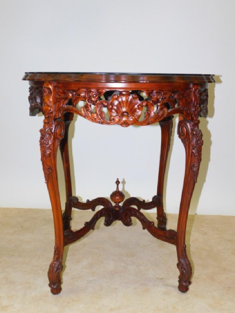 INLAID CARVED LAMP TABLE