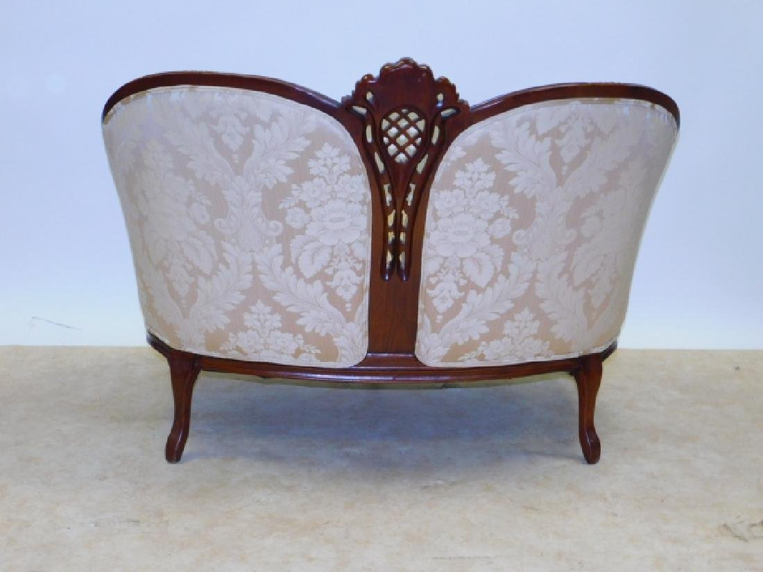 FRENCH CARVED LOVE SEAT - 3