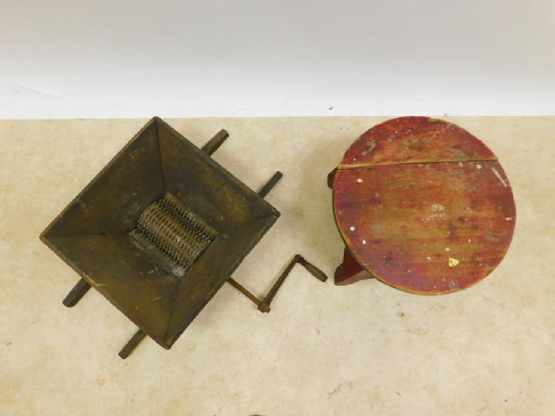 GRAPE GRINDER AND CIRCUS STOOL - 2