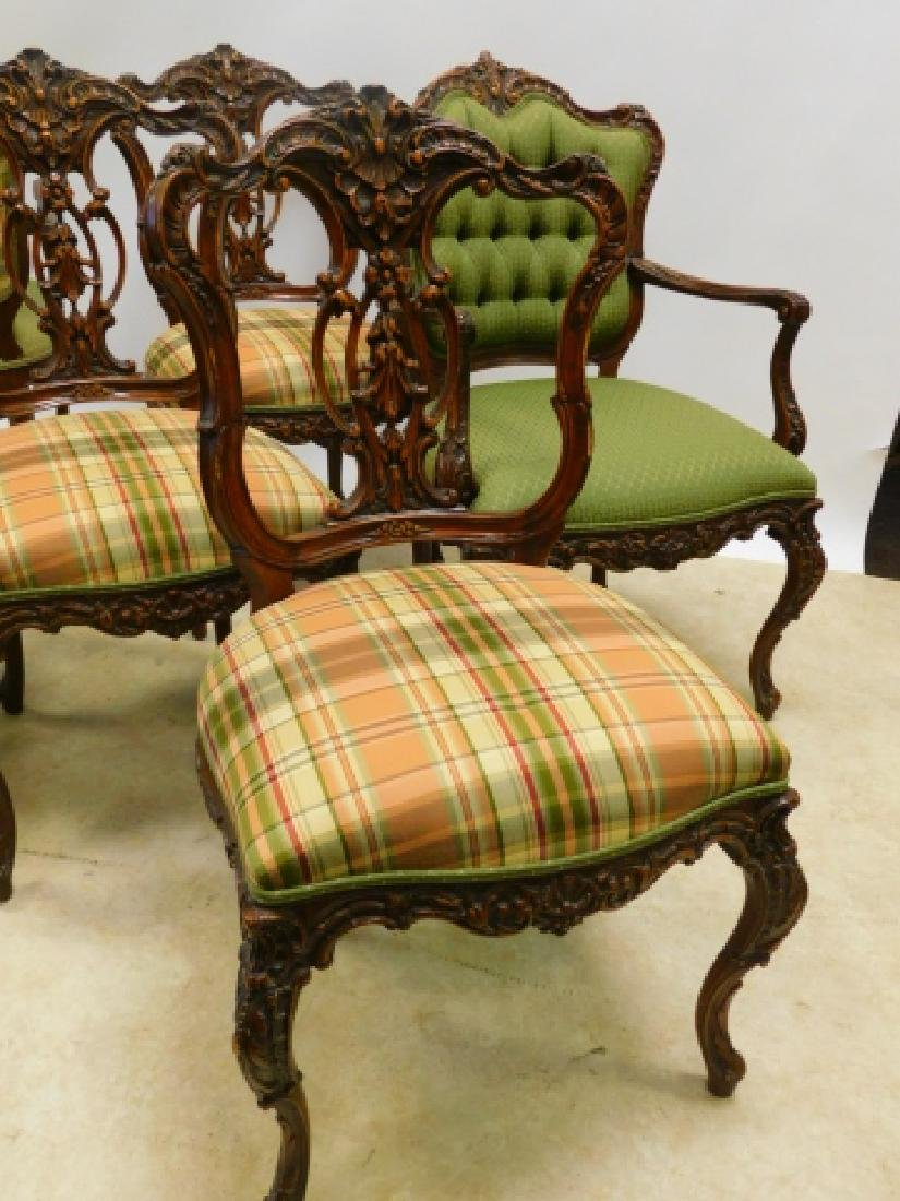 SET OF 6 FRENCH CARVED DINING CHAIRS - 2