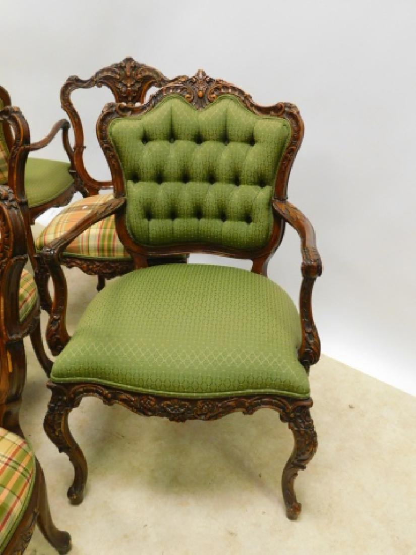 SET OF 6 FRENCH CARVED DINING CHAIRS - 3