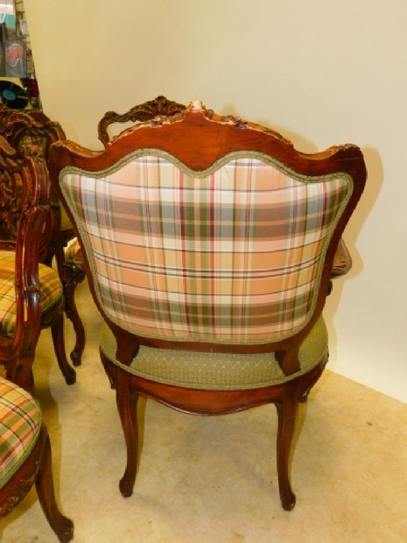 SET OF 6 FRENCH CARVED DINING CHAIRS - 4