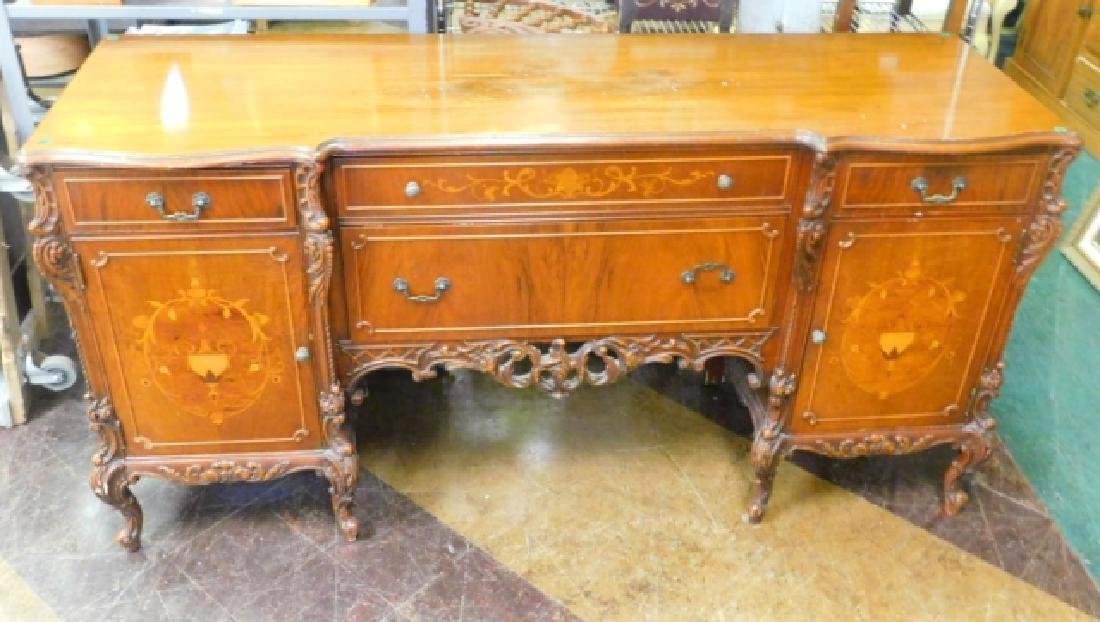FRENCH CARVED INLAID BUFFET - 2
