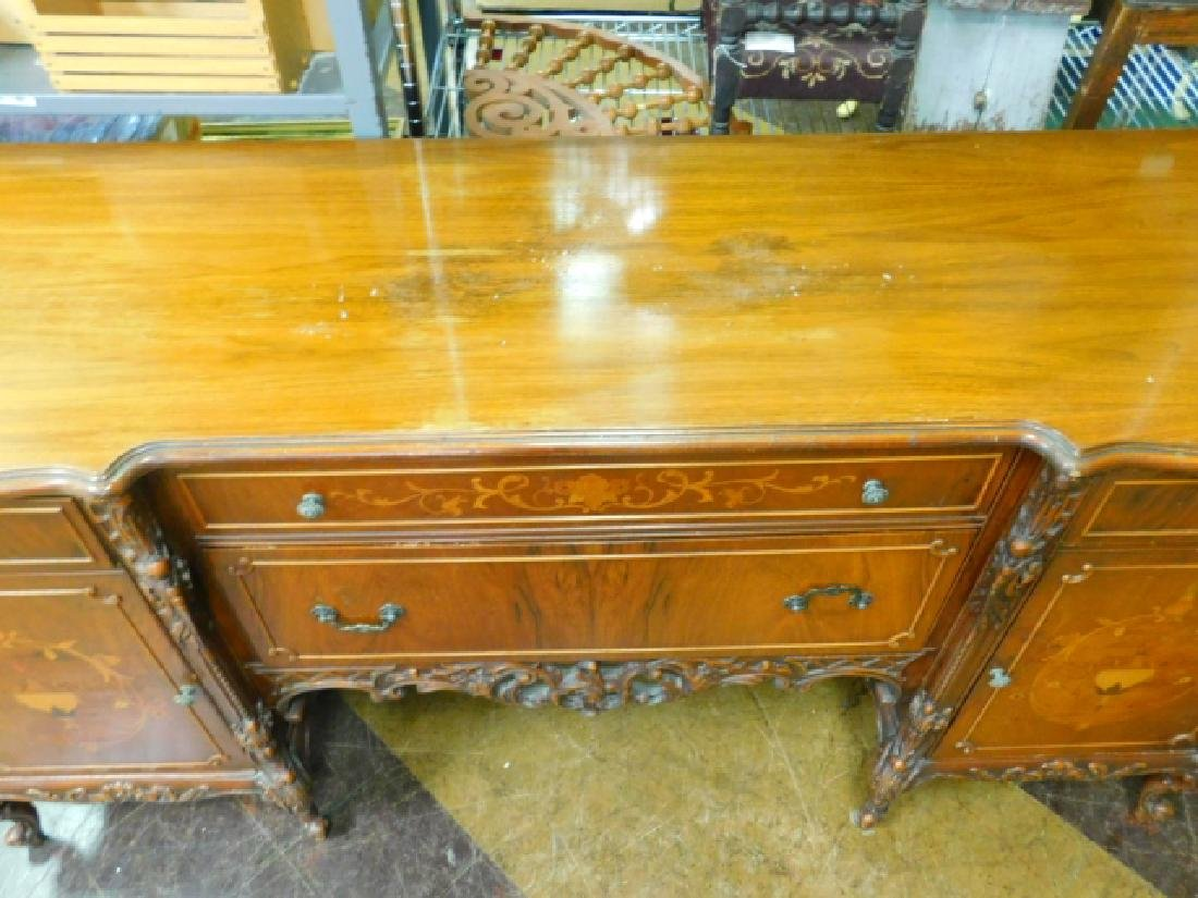 FRENCH CARVED INLAID BUFFET - 4