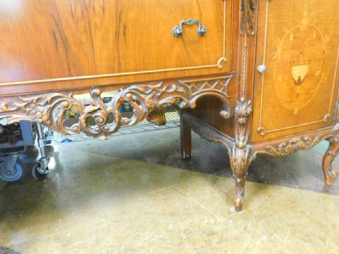 FRENCH CARVED INLAID BUFFET - 5