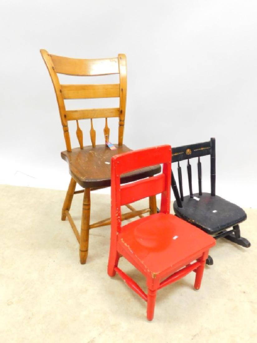CHAIR WITH CHILDS CHAIR AND ROCKER