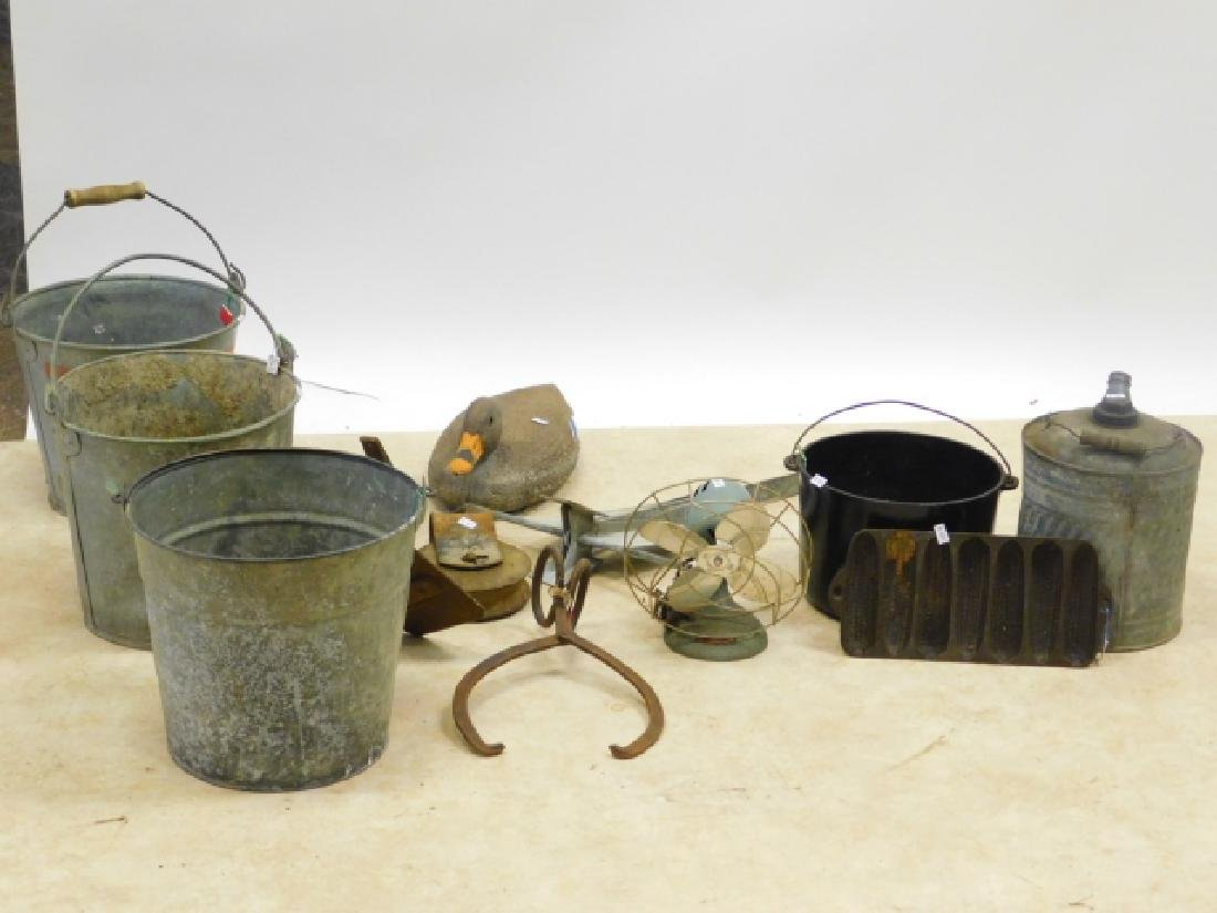 BUCKETS, ANCHOR, PULLE, FAN, AND MORE